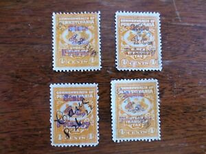 (4) 1920s Stock Transfer Tax Revenue Stamps Commonwealth Pennsylvania PA Used