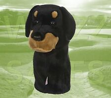 Rotweiller by Daphne's Large Novelty Golf Club Driver 1 Wood Headcover 460cc