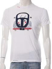 T-shirt Uomo Bob Company Ready R335 Maglia Ricamata Cotone Bianca Italia Nuova