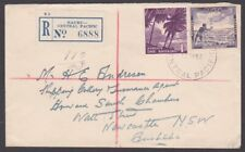 NAURU 1954 1/½d rate registered cover to Sydney -...........................M591