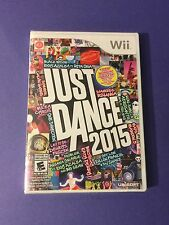 Just Dance 2015 *First Print White Case* (Wii) NEW