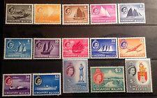 SINGAPORE 1955 DEFINITIVE SET SG38/52 UNMOUNTED MINT  CAT £130