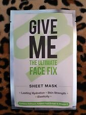 GIVE ME The Ultimate FACE FIX FACE MASK Sheet Mask Hydration Strength Elasticity