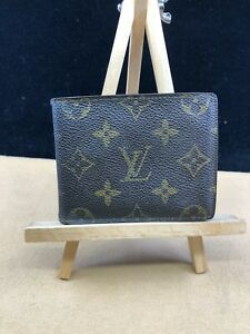 LV226 Louis Vuitton Brown Monogram Canvas Bifold Wallet  MAKE OFFER USA