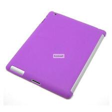 Purple New iPad 3 4 Gen Tpu Gel companion mate Case Works with Apple Smart Cover