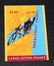 AUSTRALIA  2000 PARA OLYMPICS BOOKLET 10 X 49c 1 KOALA REPRINT PHIL BARCODE