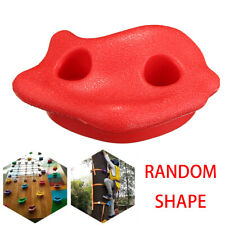 10 Red Textured Bolt Climbing Rock Wall Grab Holds Grip Stone Kid Indoo