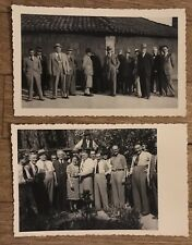 2 BELLE FOTO CARTOLINE 1940 VIADANA MANTOVA CORTE MILANO (?) (vedi retro)