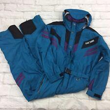 Mens Snowsuit HARD CORPS Vintage 80s 90s L Ski Board Teal Snow Suit Pants Coat