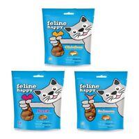 Mark & Chappell Feline Happy Treats 60g - Cat Kitten Gourmet Chicken Duck Salmon