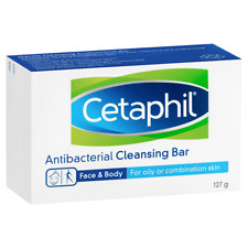 Cetaphil Antibacterial Cleansing Bar 127g - Face and Body - Soap Free
