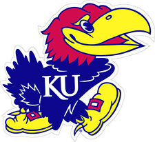 KU UNIVERSITY OF KANSAS Large Jayhawk Decal