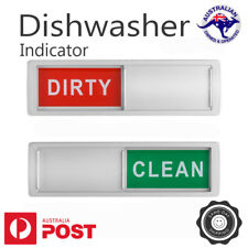 Clean Dirty Dishwasher Indicator Magnet Sign with Non-Scratch Magnetic Backing