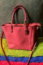 Coach Madison Love Red Rose Saffiano Leather Zip Shoulder Bag Hobo Satchel