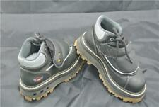 ART NUBACK UK 2  BOOTS BLACK/GREY CHUNKY RARE LIMITED EDITION STEEL TOE CAP
