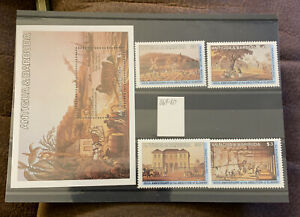 BARBUDA 1984 SG 864-67 150TH ANNIV OF ABOLITION OF SLAVERY MNH
