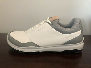 ECCO Men's Golf BIOM Hybrid 3 Shoes Gore-Tex GTX Size 6-6.5 (EU 40) White