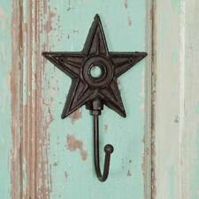 Country new rustic brown Architectural cast iron STAR wall hook