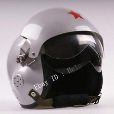 Air Force Jet Pilot Flight Helmet & Motorcycle/Scooter  Silver Color