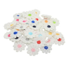 50Pcs Flower Embroidered Sew On Applique Lace Patch Sewing Trims for Clothes