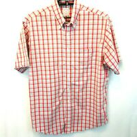 Brooks Brothers The Original Polo SHIRT Men's Red Plaid Size Large Supima Cotton