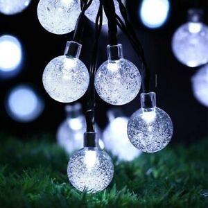 Solar Powered 50 LED String Light Outdoor Garden Path Yard Waterproof Decor Lamp