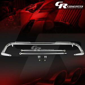"""49"""" COATED STAINLESS STEEL RACING SAFETY SEAT BELT HARNESS BAR ACROSS ROD CHROME"""