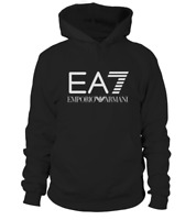 *New* Hoodie Emporio Armani EA7 Short Sleeve Men's Black Unisex  (S -> 3XL)