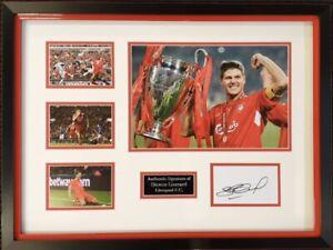 Steven Gerrard Signed Photo Display