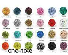 One Hole Half Drilled 10mm 100pcs/lot mixed Shamballa Crystal Beads For Earrings