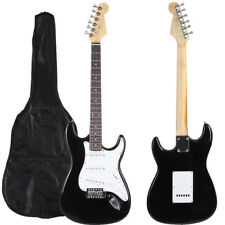 Electric Guitar Black, Solid Wood Body Top SELECTION With Connection Cable! 39IN