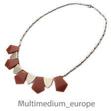 Jakob Bengel Galalit Bakelit Collier Art Deco 30er Jahre necklace 30s versilbert