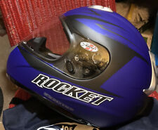 Nib Joe Rocket Rkt 101 Solid Edge Mc2F Blue Helmet with carry bag/original box