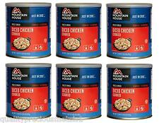 6 Cans -Chicken Cooked- Diced- Mountain House Freeze Dried Emergency Food Supply