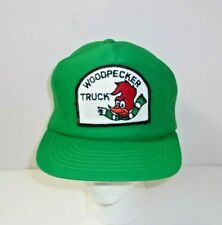 Woodpecker Truck Patch Trucker Rare Vintage snapback Hat Cap U.S.A. Made