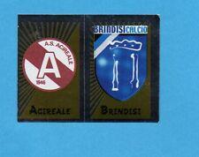 PANINI CALCIATORI 2002-03- Figurina n.693- ACIREALE+BRINDISI - SCUDETTO -NEW