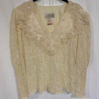 Scott McClintock Vintage Victorian Lace Blouse 8