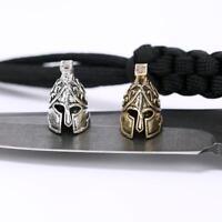 1pc Paracord Bead Metal Charm Spartan Paracord Bracelet Accessories Survival DIY