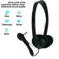 Computer Headset Wired Comfortable Headphone USB Headset Microphone With T0H9