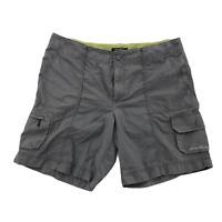 Eddie Bauer Mens Light Grey Cargo Golf Shorts Size 14