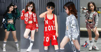 UK Street Dance Wear Costume Girls Tutu Dress Sequins Kids Hip Hop Jumpsuit Jazz