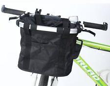Bicycle Carriers Basket for Pet Dog Cat 2-in-1 Bike Basket Shoulder Carriers
