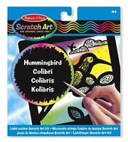 Melissa & Doug Light Catcher Scratch Art Kit: Hummingbird - 15887 - NEW!