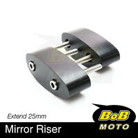 For Suzuki GSF 1250 S Bandit 07-14 15 CNC Side Mirrors Riser Extender Adaptor