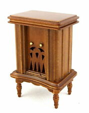Casa De Muñecas década de 1920 años 30 años 40 radio Miniatura de madera de nogal mobiliario de Sala