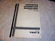 YANMAR YB10-2 Crawler Backhoe Parts Manual