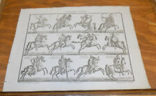 1822 Antique Print///HORSE RIDERS IN WAR