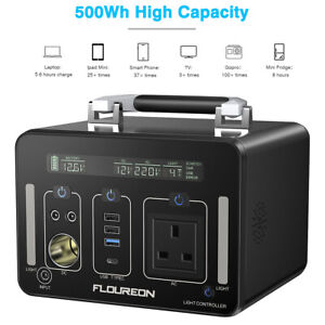 500Wh Power Station Portable Battery Generator Emergency Charger Pack AC DC USB
