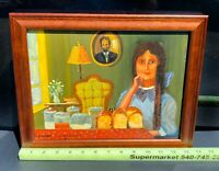 Original Oil Painting Young Lady Baker Fine Art By Lucien Daigneault