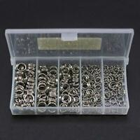 250pcs 5-Size Stainless Steel Fishing Split Rings Double Loop Connector Tackle